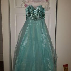 Teal Cinderella dress inspo